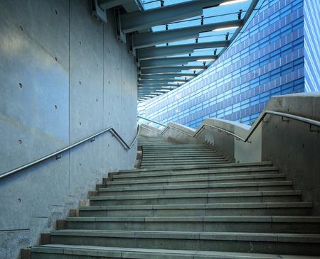 Concrete staircase at outdoor photo