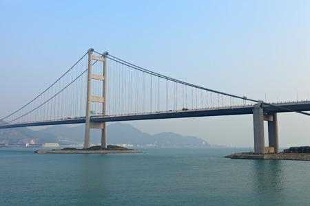 Suspension bridge in Hong Kong photo