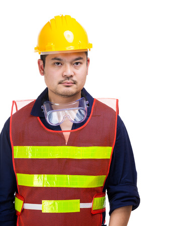 safety googles: Asia builder isolated