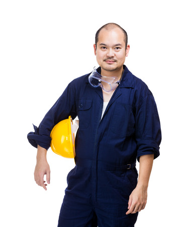 Construction worker isolated photo