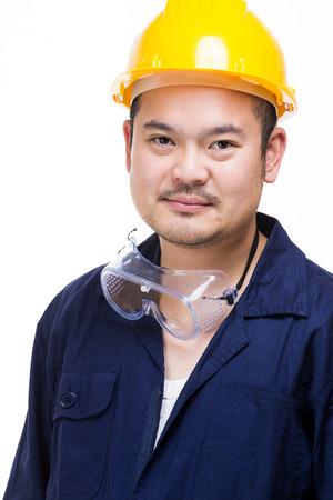 safety googles: Asian technician
