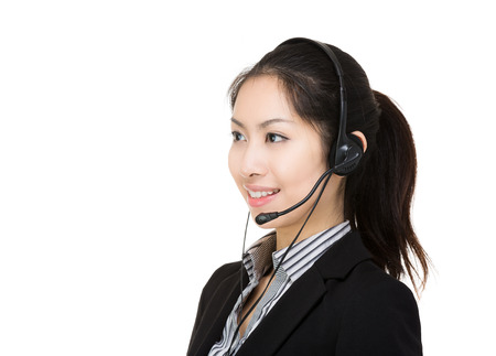 Asia female customer service photo