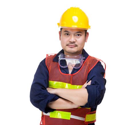 Asia construction worker portrait photo