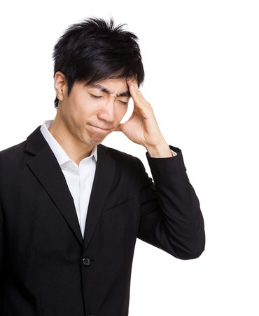 Asia businessman headache photo