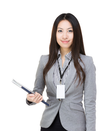 Asia woman with notebook photo