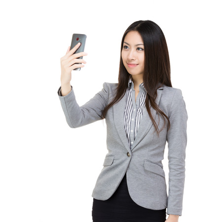 Asia businesswoman selfie  photo
