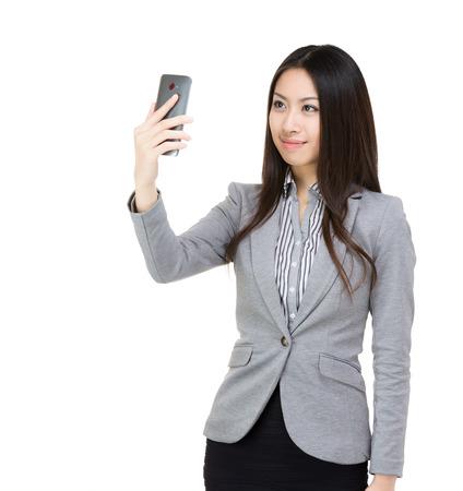 Asia businesswoman selfie  photo