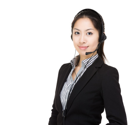 Asia customer service Stock Photo