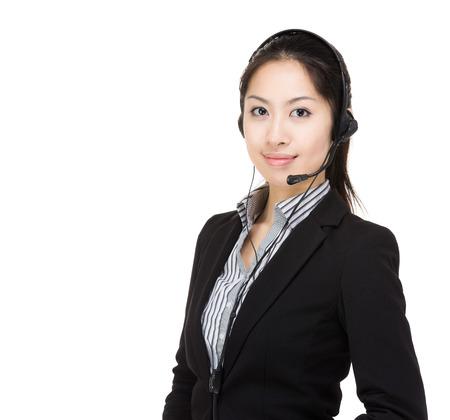 Asia customer service Stock Photo