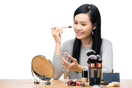 아시아 여자 메이크업