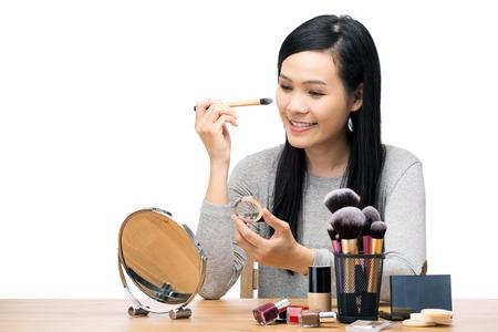 Asia woman make up Stock Photo