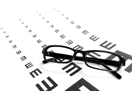 Eyechart and glasses photo