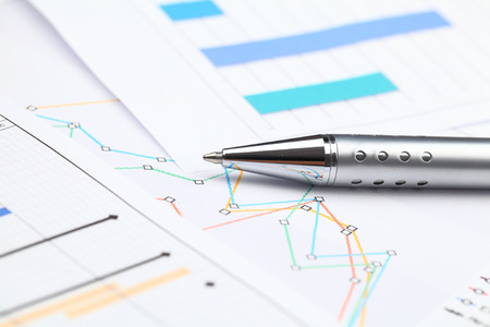 graphical: Graphical chart Stock Photo