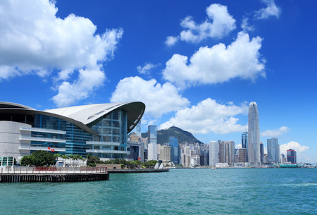 Central business district in Hong Kong Editorial
