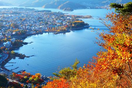 Japanese lake kawaguchi photo