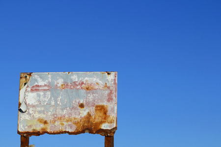 Weathered metal billboard photo