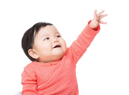 アジアの赤ちゃん女の子タッチ トップ