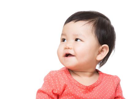 beiseite: Asiatisches Baby beiseite schaut