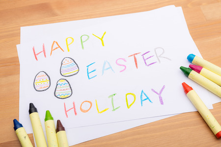 Hand drawing for easter holiday photo