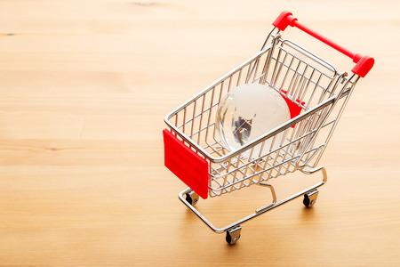 Crystal globe in a cart photo