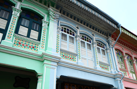 Shop houses in Singapore photo