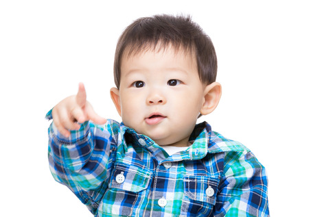 Asian baby boy point front photo