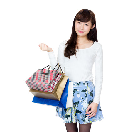 Asia woman with shopping bag photo