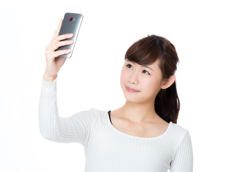 Asia woman selfie photo