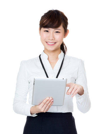 Asia businesswoman using digital tablet photo