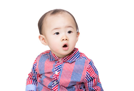 suprise: Asia baby boy feel suprise