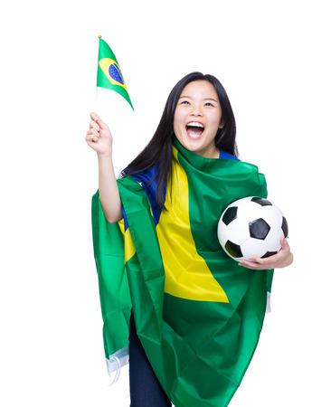 Asian female soccer fans photo
