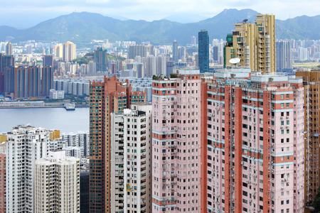 Cityscape in Hong Kong photo