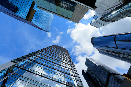Modern building from low angle Stock Photo