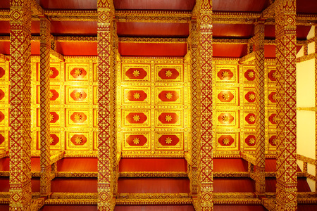 Thai style temple ceiling