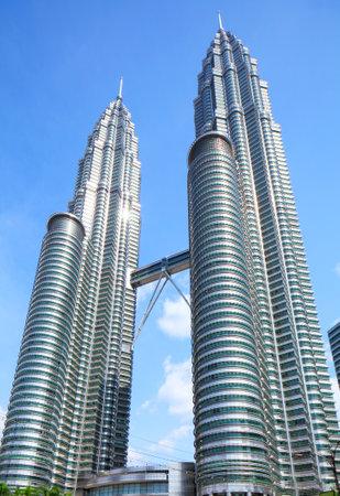 Twin tower building in Kuala Lumpur