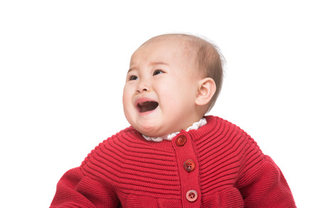 Asia baby girl crying photo