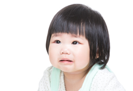 Asian little girl cry photo
