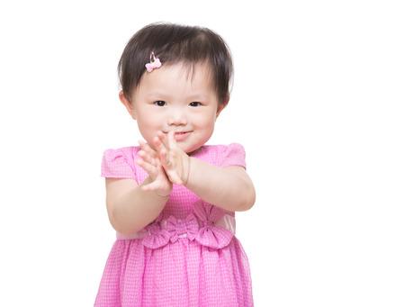 manos aplaudiendo: Asia niña palmas