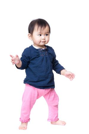 Asia baby girl standing photo