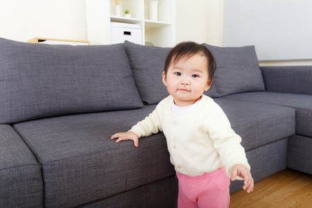 asian baby girl: Asian baby girl at home Stock Photo