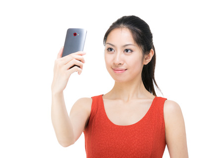 Asian woman selfie photo