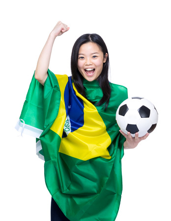 Female football supporter photo