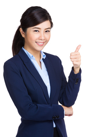 Asian woman with thumb up  photo