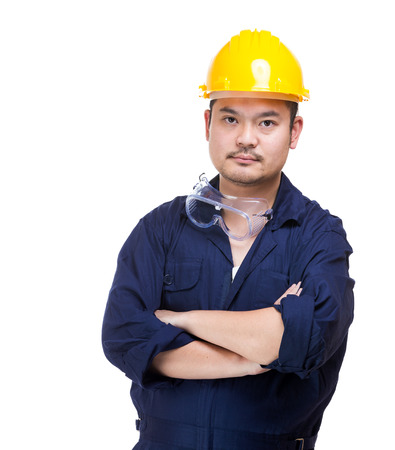 Asian construction worker portrait photo