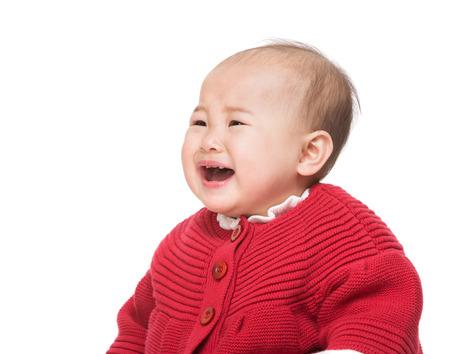asian baby girl: Crying asian baby girl