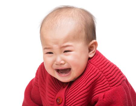 Baby crying photo