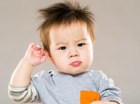 혼란 아시아 아기 스톡 콘텐츠