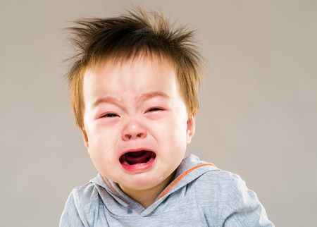 Asia baby boy crying photo
