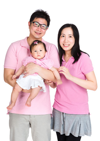 Asian couple with baby photo