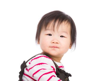Baby girl looking photo